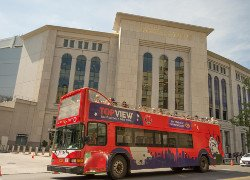 a Double Decker Bus Near to Yankee Stadium