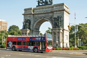 a TopView Double Decker Bus Near to Grand Army Plaza