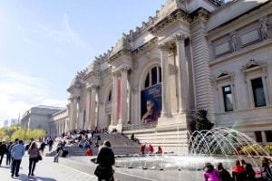 Metropolitan Museum of Art in a Sunny Day